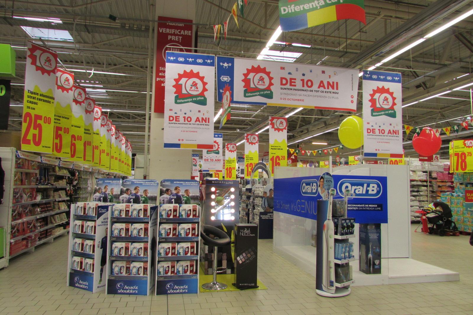 Auchan s rb tore te 10 ani de prezen pe pia a din rom nia for Email auchan